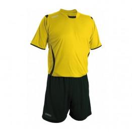 Echipament fotbal galben negru negru GECO