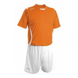 Echipament fotbal portocaliu alb alb GECO