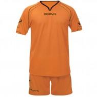 Echipament fotbal Kit Capo GIVOVA, Orange, 2XS