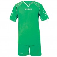 Echipament fotbal Kit Capo GIVOVA, Verde, XL