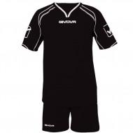 Echipament fotbal Kit Capo GIVOVA, Negru, 2XS