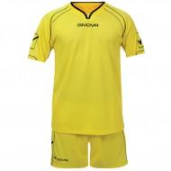 Echipament fotbal Kit Capo GIVOVA, Galben, 2XS