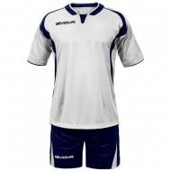Echipament fotbal Kit Ares GIVOVA, Alb/Albastru, L