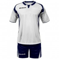 Echipament fotbal Kit Ares GIVOVA, Alb/Albastru, 2XL