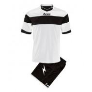 Echipament fotbal Kit Apollo Zeus, Alb/Negru, M