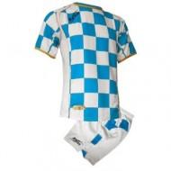 Echipament fotbal Kit Kroazia, Alb/Royal, 2XS, ZEUS