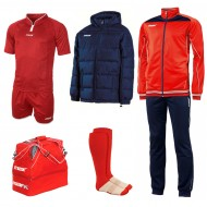 Set echipament fotbal Superbox Asia, Rosu, MAXSPORT