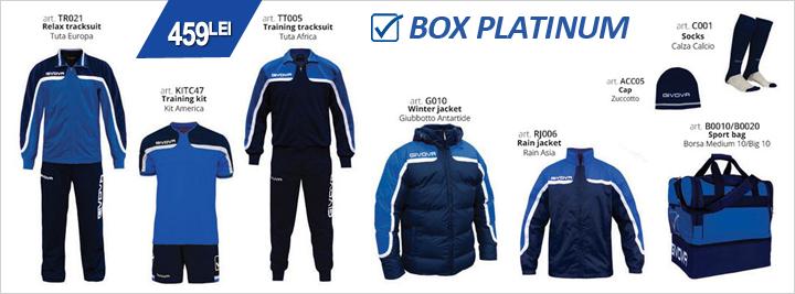 Echipament fotbal complet Box Platinum Givova