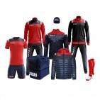 Echipament fotbal complet, Box Vesuvio - Bleumarin / Rosu, ZEUS