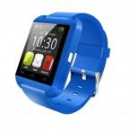 Ceas Smartwatch IMK U8+, Bluetooth, LCD 1.44, Pedometru, Barometru, Altimetru, Procesor 360MHz, Albastru