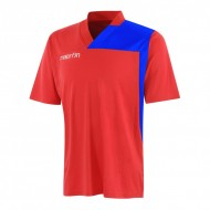 Tricou fotbal Perseus MACRON, Rosu/Royal - OLR
