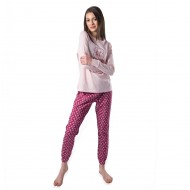 Pijama femei Big Dreamer Roz Pal +Imprimeu