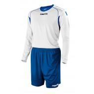 Echipament fotbal Kit Vesta Macron, Alb/Royal, M