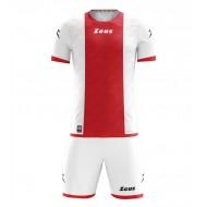 Echipament de fotbal Kit Icon, Alb / Rosu, ZEUS