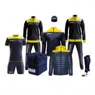 Echipament fotbal complet, Box Vesuvio - Bleumarin / Galben, ZEUS