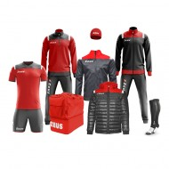 Echipament fotbal complet, Box Vesuvio - Rosu / Gri, ZEUS