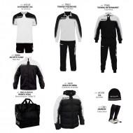 Set complet echipament fotbal Box Platinum, Alb-Negru, GIVOVA