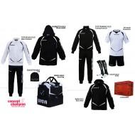 Set complet echipament sportiv Box Gold Negru-Alb GIVOVA