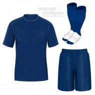 Set echipament fotbal tricou, sort si jambiere Concept Champion