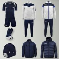 Set complet echipament fotbal Forza, Alb/Bleumarin, LEGEA