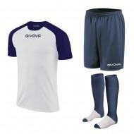Set echipament fotbal, tricou Capo, sort si jambiere, GIVOVA