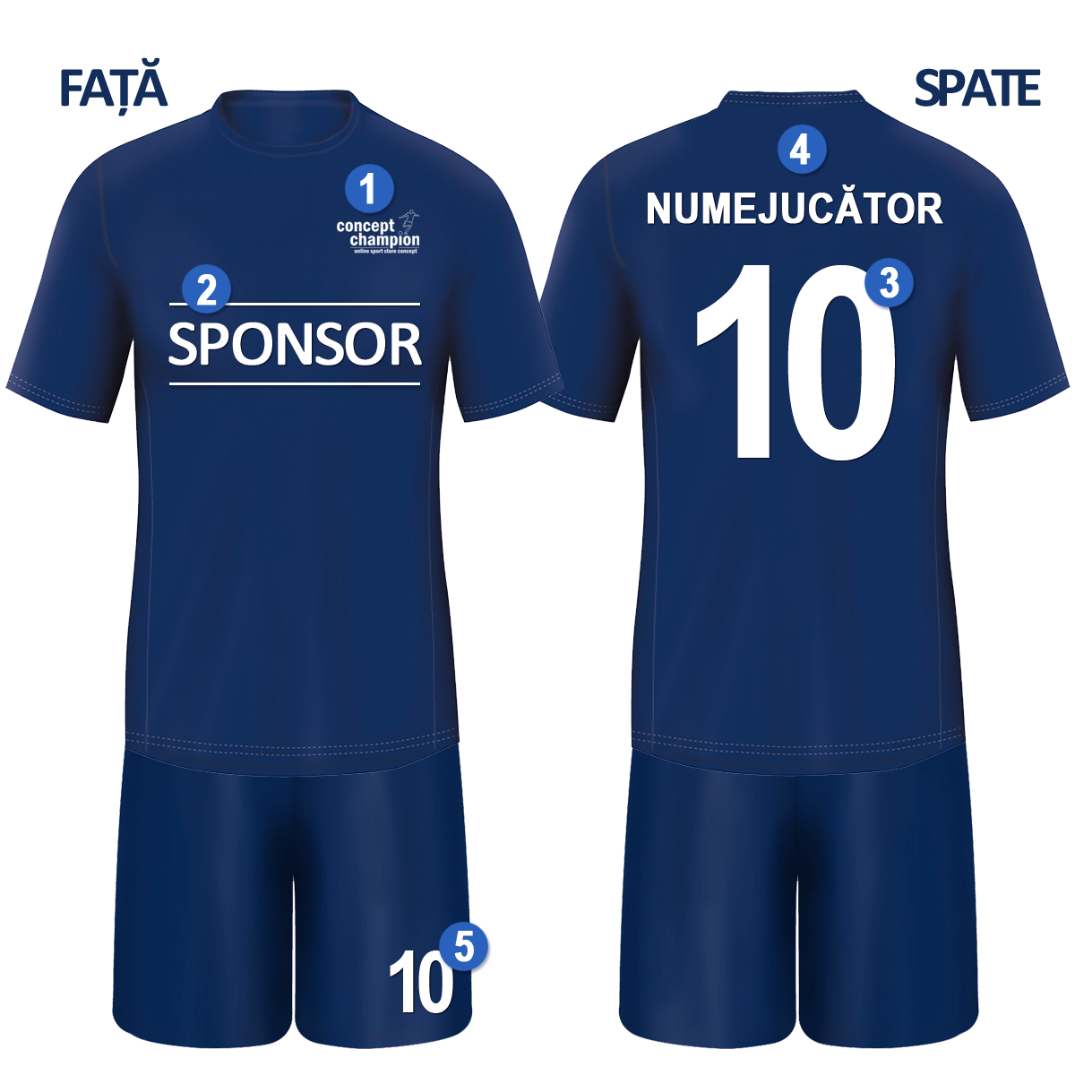 magazine populare magazin stiluri proaspete Imprimare numar si nume pe tricou   Echipament Fotbal Personalizat